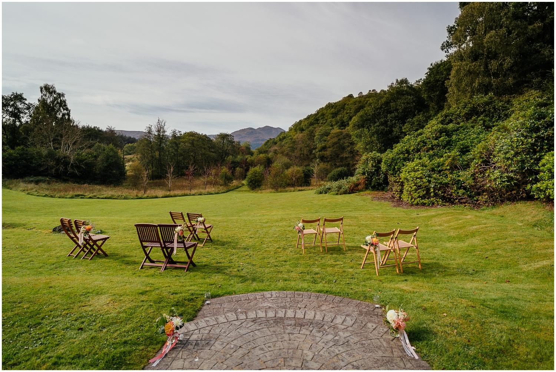 outdoor mini wedding venue callander Scotland