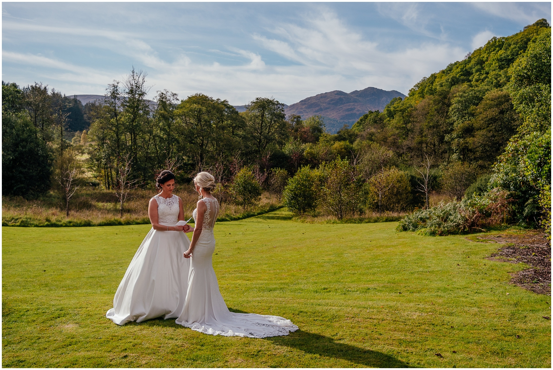 outdoor mini wedding scotland ben venue