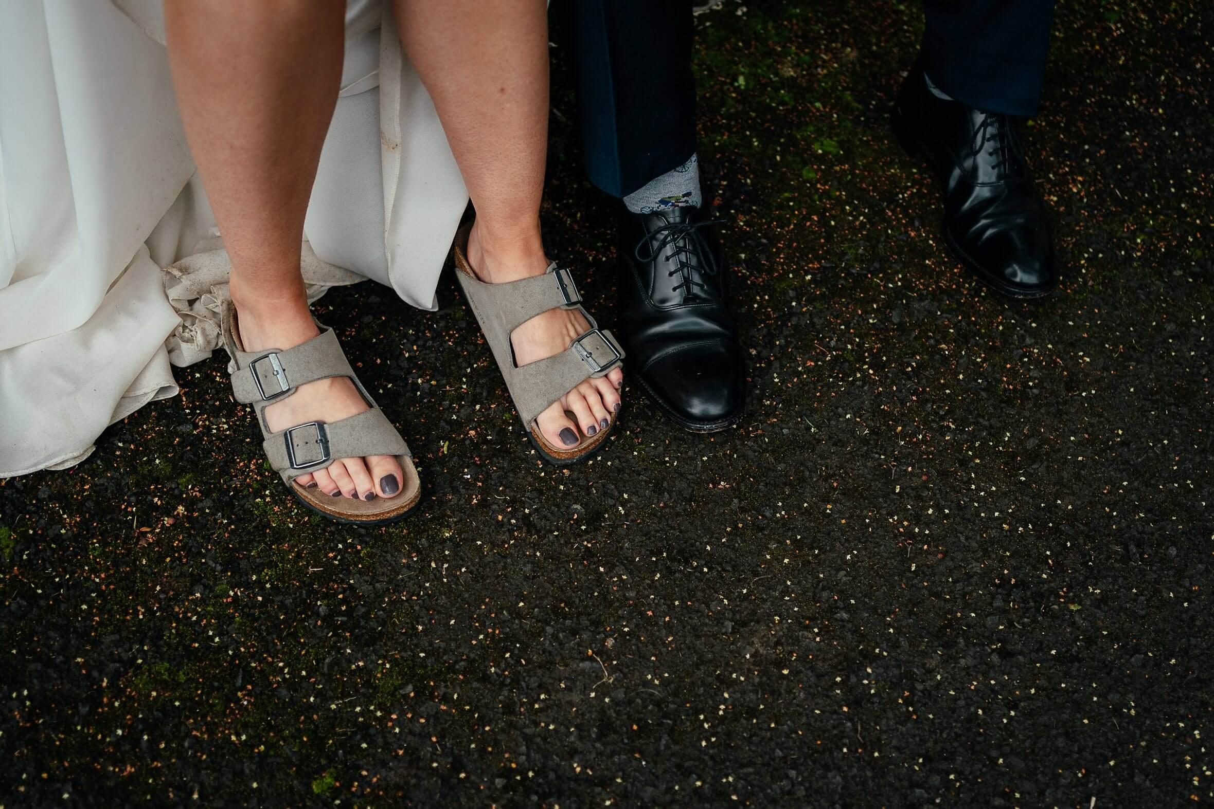 bride birkenstocks bridal footwear micro wedding scotland