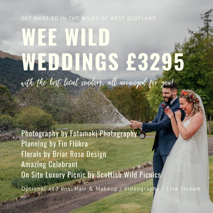 elope to Scotland - Wee Wild Wedding elopement micro wedding packages